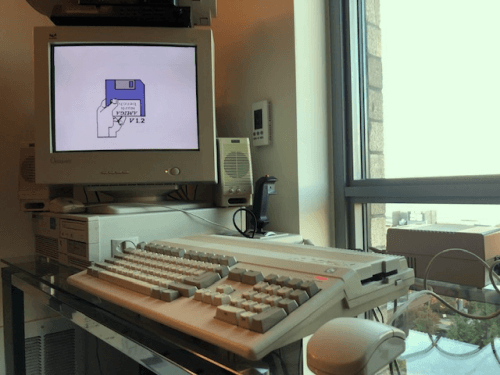 First power on of my new Amiga 500!