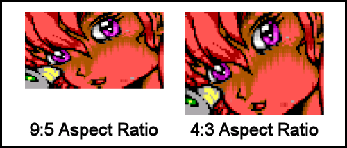 Side-by-Side Comparison of an ANSI at Native Aspect Ratio vs a Stretched One