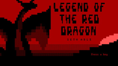 Legend of the Red Dragon Intro Screen